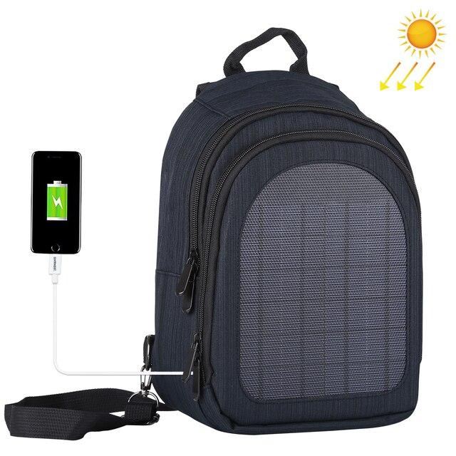 Haweel 5W Solar Panel Men Backpack Powered Backpack Usb Charging Anti Theft Laptop Travel Backpacks for Men Canvas Bagpack