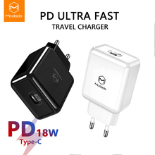 Mcdodo EU/US/UK USB Type C PD 3.0 Charger 18W Fast Charging for MacBook iPhone 11 Samsung Xiaomi Huawei Quick Charge 4.0 Adapter