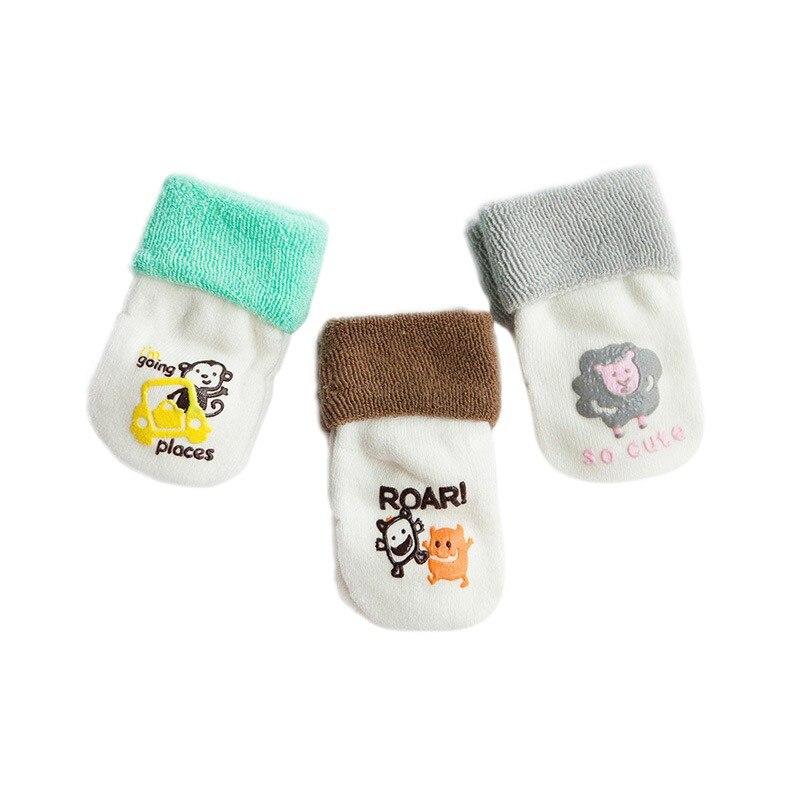 Милые хлопковые чулки для маленьких мальчиков и девочек, новые теплые махровые зимние чулки для новорожденных,# E - Цвет: G