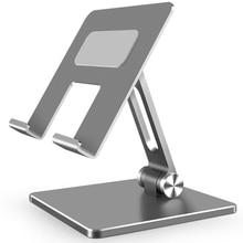Metalowe biurko stojak na telefon komórkowy stojak na iPhone iPad Xiaomi regulowany uchwyt na Tablet biurkowy uniwersalny stojak na telefon komórkowy
