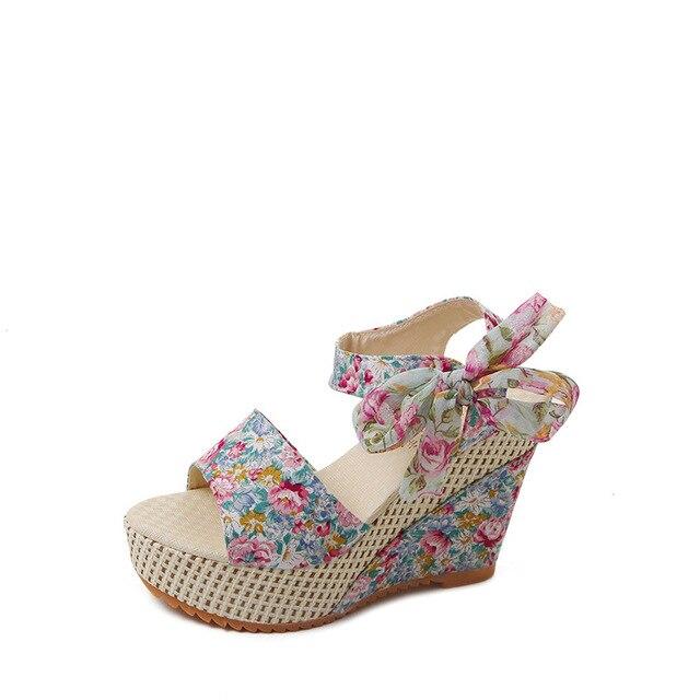 2020 الربيع و الصيف جديد الصنادل المرأة أحذية نسائية ملونة المرأة 4