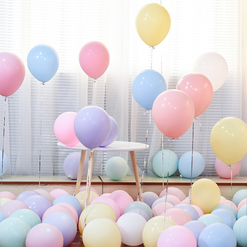 10pcs 5/10/12 inches Candy Macarons Color Pastel Christmas Balloons Latex Round Helium Baloons For Birthday Christmas Party