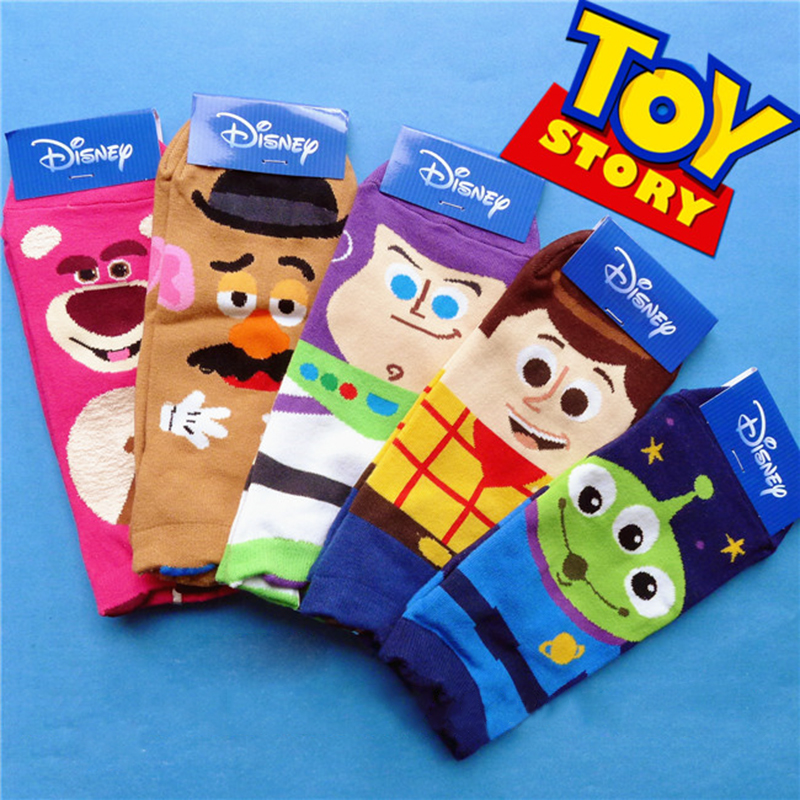 Disney Cartoon Girl Socks Toy Story Print Ms. Cute Cartoon Tube Cotton Socks Woody/Goofy/Judy Rabbit Socks