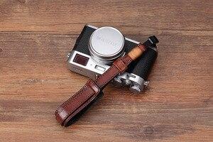 Image 3 - Vintage en cuir véritable caméra sangle poignée sans miroir caméra numérique lanière dragonne pour Sony/Leica/Olympus/Panasonic/Fuji