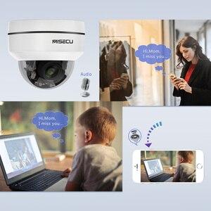 Image 4 - MISECU H.265 1080P PTZ IP kamera 4X Zoom Mini hız Dome Metal açık su geçirmez 2MP POE CCTV güvenlik Onvif p2P IR 40M kamera