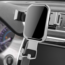 Gravity Car Phone Holder Air Vent Car Mount Tempered Glass Holder for Smartphone GV99 цены