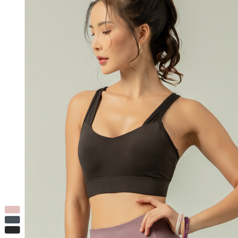 Women/'s Girl/'s Yoga Sports Bra Seamless Padded Fitness Stretch Workout Tank Top