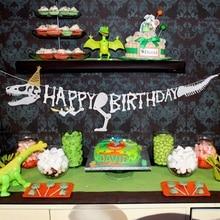 PATIMATE/вечерние браслеты с декором динозавра, цепочка для ключей, украшение для дня рождения, украшения для вечеринки в стиле сафари