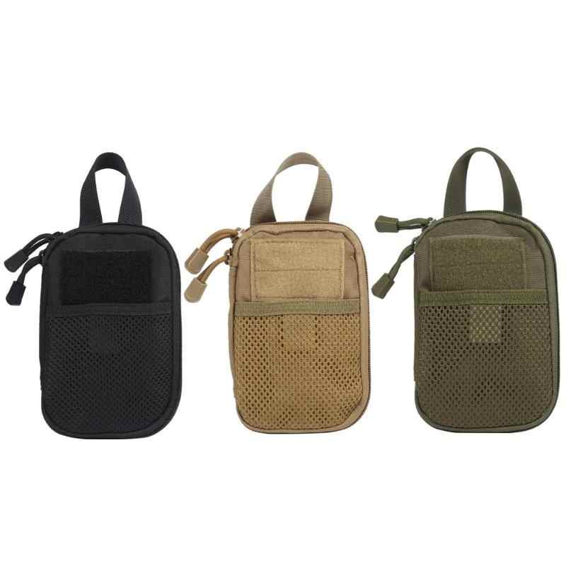 Açık kamuflaj Fanny paketleri taktik ordu telefon tutucu spor bel kemeri durumda Oxford bez spor avcılık Camo çanta sırt çantası