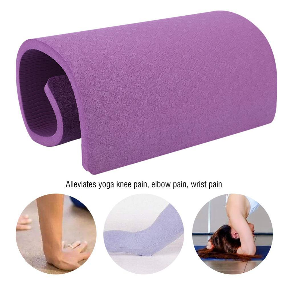 Yoga Mat Workout Elastic Non-slip Fitness Gymnastics Mats Bag Carrier Thick Knee Exercise Pad