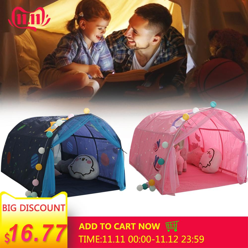 Children Bed Tent Game House Baby Home Breathable Tent Boy Girl Safe House Tunnel Outdoor Camping Baby Beach Tent