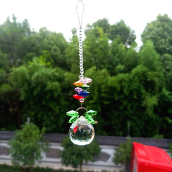 DIY kryształy wisiorki z koralików przezroczysty szklany żyrandol kryształy piłka pryzmaty Suncatcher wiszący Ornament Home Decoration 165mm tanie i dobre opinie X615