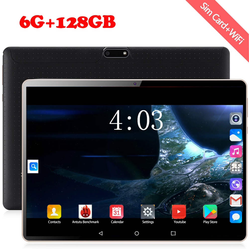 2020 New 10.1 Inch Tablet PC Android 8.0 Octa Core RAM 6GB ROM 128GB 3G/4g LET Smart Phone Android 9 WiFi GPS Tablets 10