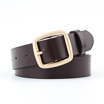 top2019 Belts Buckle Casual Design Waist for Women Universal Simple Solid Fashion Color Leather