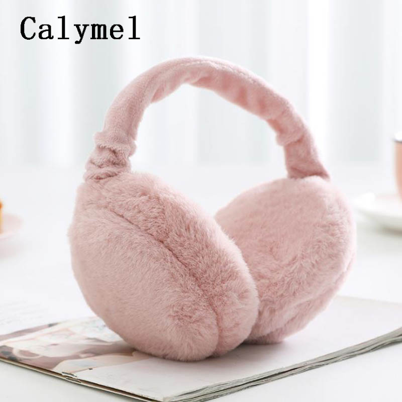 Calymel Winter Autumn Warm Fur Ear Muffs Cute Fur Earmuff Ear Flap Ladies Plush Ear Muffs Women Fur Headphones