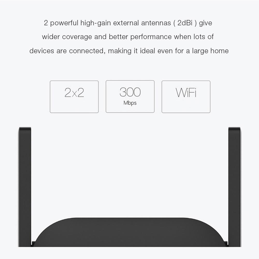 Original Xiaomi Mi WiFi Repeater Pro 300M Amplifier Network Expander Router Extender Roteador 2 Antenna 4