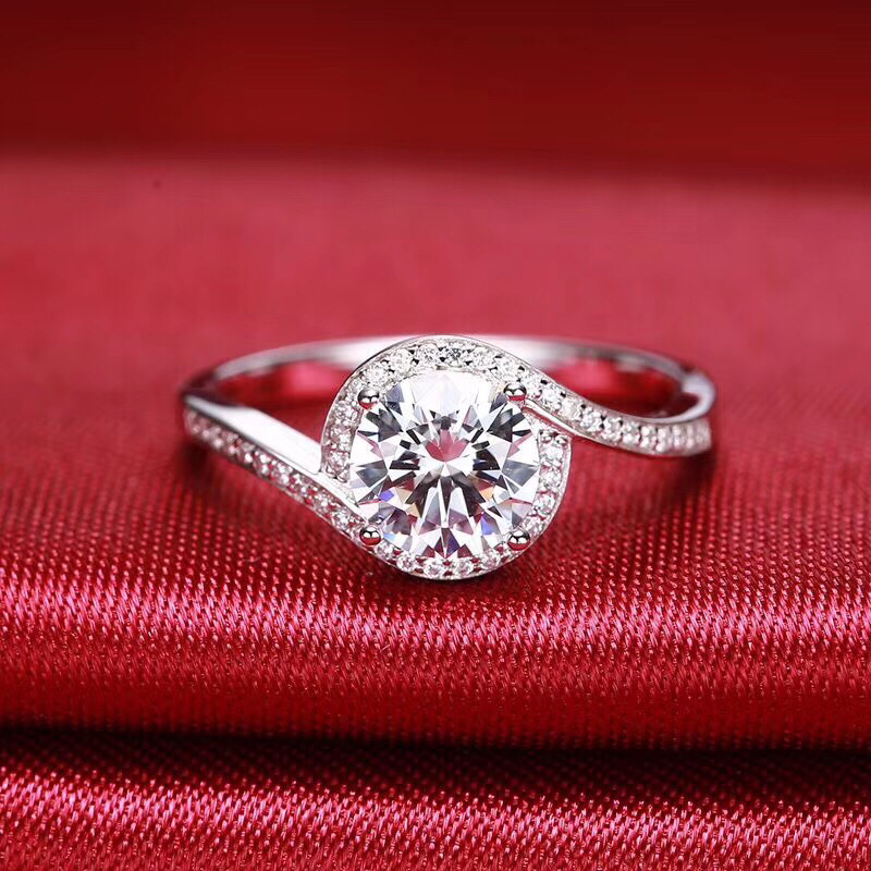 Aladdin haute qualité 1CT D couleur Mosanite S925 bijoux de fiançailles de mariage en argent Sterling