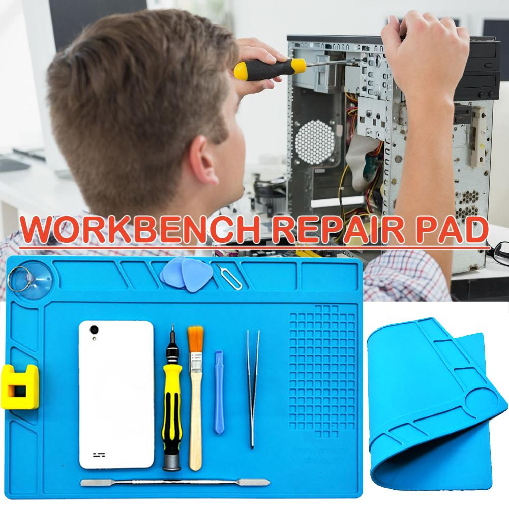 Magnetic Silicone Work Mat For Mobile Phone Computer Maintenance High Temperature Resistant Heat Insulation Silicone Pad Table