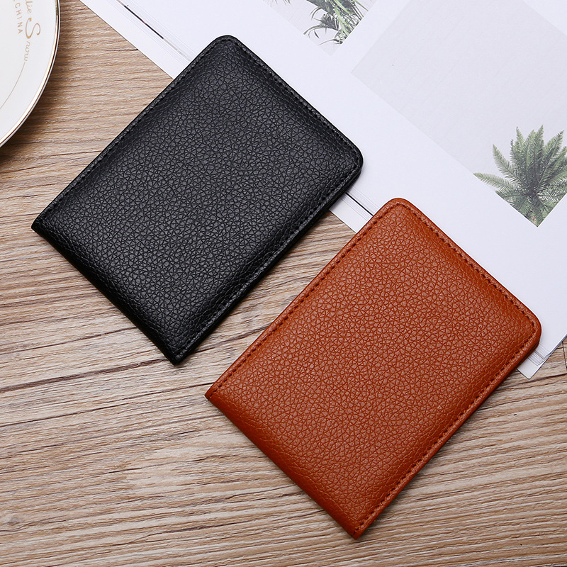 Driver License Holder Cover Document Business ID Pass Certificate Folder Solid Color Passport Cover Casual Card Wallet Unisex