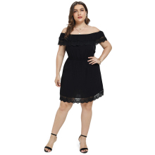 Sexy Hollow Out Sleeve Party Dress Women Party Plus size 3XL Dresses Black Lace Mesh Loose Vestido Femme vestidos de verano D30 смеситель для ванны bravat spring f679113c b