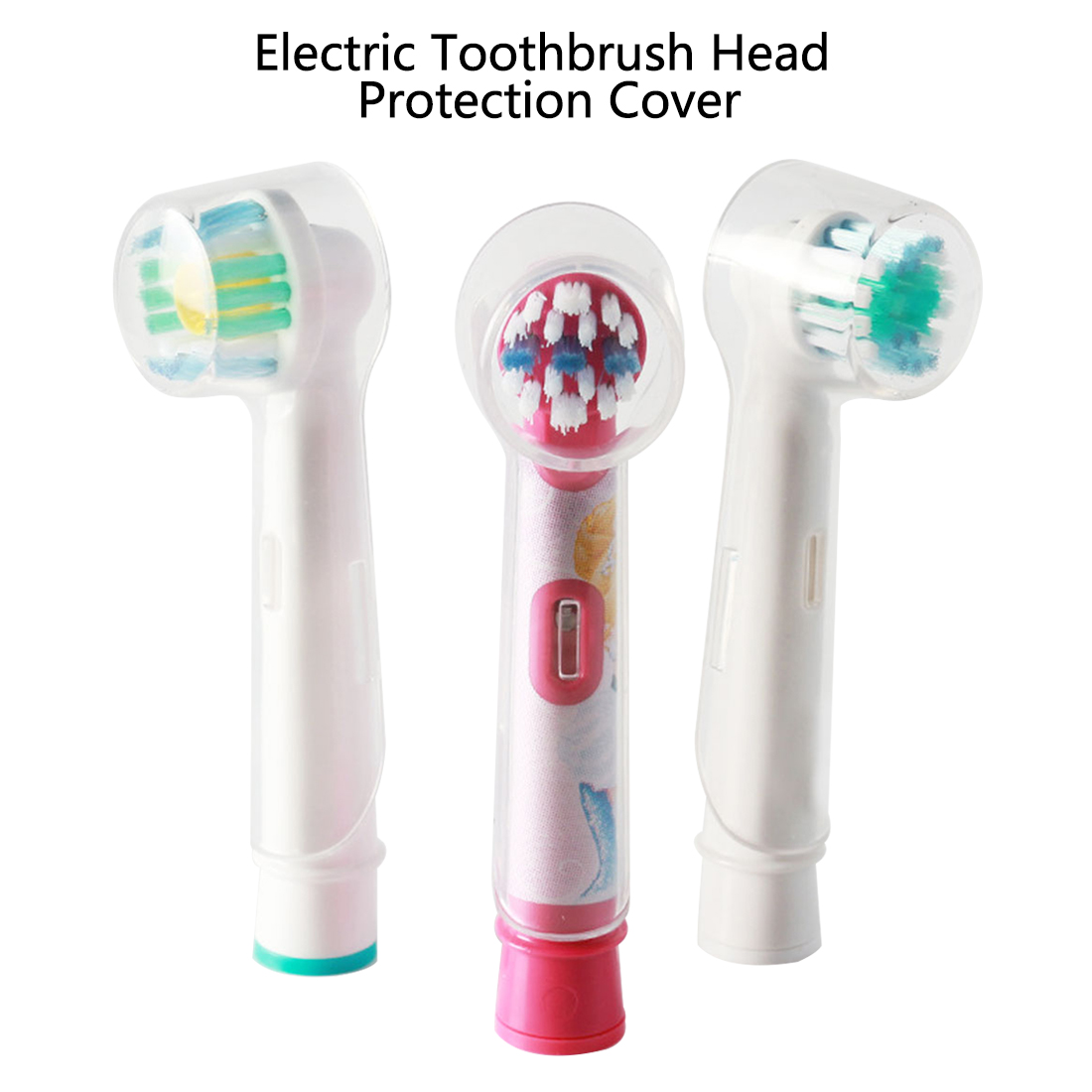 4pcs/Set Replacement Toothbrush Head Case Holder Home Camping Travel Tool Electric Toothbrush Heads Protective Cover Caps image