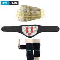 BYEPAIN Terapia Magnetica Tourmaline Brace Set Protezione del Ginocchio Rilievi di Massaggio del Collo Brace Cura Della Vita Cintura di Sostegno di Auto-riscaldamento