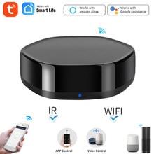 Tuya wifi + ir controle remoto inteligente para casa inteligente controle de voz via alexa google casa inteligente vida app controle