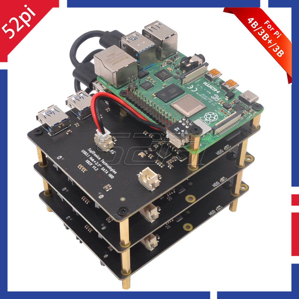 52Pi Raspberry X828 Stackable 2.5