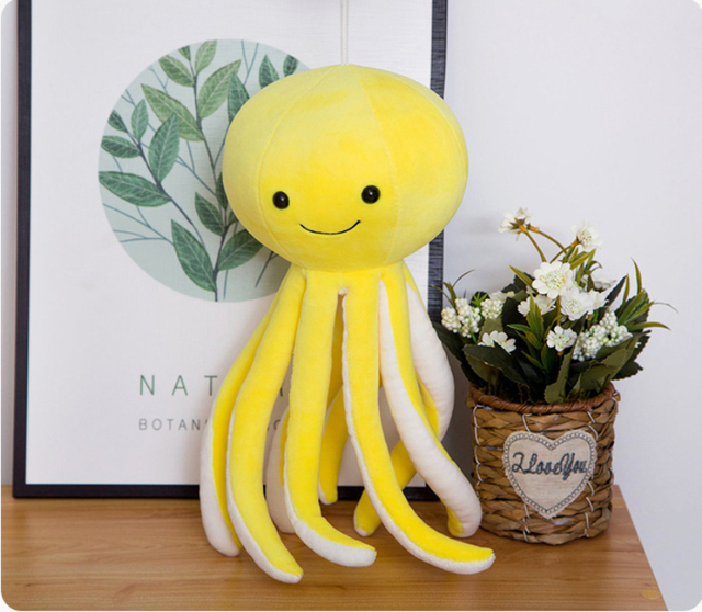 38cm Baby Cute Simulation Octopus Plush Toys Octopus Dolls & Stuffed Toys Soft Pillows Sea Animal Toys Children Gifts
