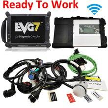 Z laptopem MB gwiazda C5 Wifi interfejs diagnostyczny najlepszy Tablet EVG7 2020.06 MB gwiazda SD podłączyć oprogramowanie C5 działa bezpośrednio SSD HDD