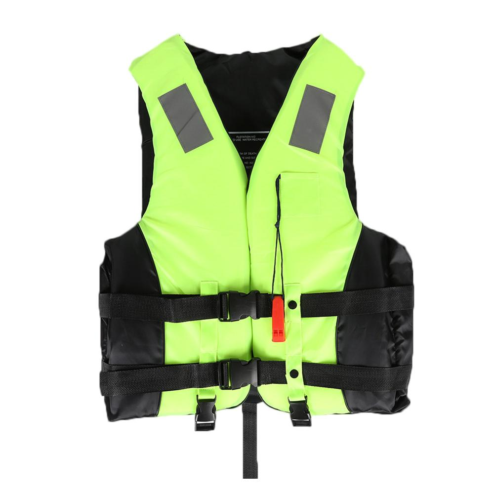 Water Sports Kids Adult Adjustable Reflective Strips Safety Fishing Vest Jacket Snorkeling Swimming Boating Drifting Life Vest