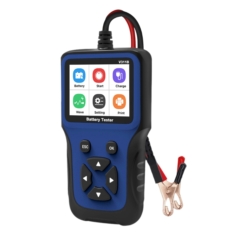 Car Battery Tester for 12V Car Battery Analyzer 100 to 2000 CCA for Lead acid AGM GEL EFB Battery USB Print|Car Battery Tester, Charging &  Repair Tools|   - AliExpress
