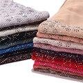 Новинка 2019 г., женские шифоновые шали и палантины однотонного цвета, женский платок, хиджаб