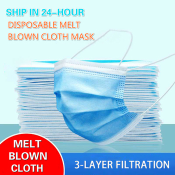 10pcs/50pcs/100pcs Fast Shipping Anti-pollution Filter Dust Face Mask Disposable 3 Ply Non-woven Meltblown Masks