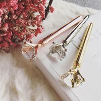 볼펜 몽블랑 펜 크리스탈 큰 검은 펜 다이아몬드 다이아몬드 볼펜      -