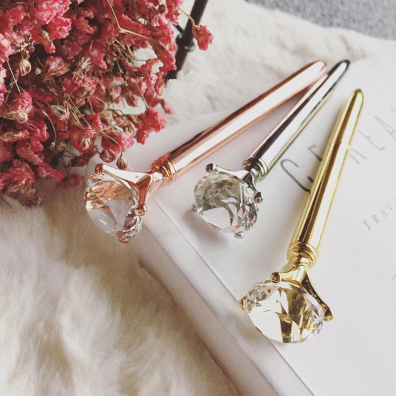 Ballpoint Pen Mont Blanc Pens Crystal Big Black Pens Diamond Diamond Ball Pen