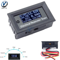 100V 10A 7 in 1 Three digital Multi-function Electrical Parameter Meter Voltage Amp Current Power Energy Capacitance Tester