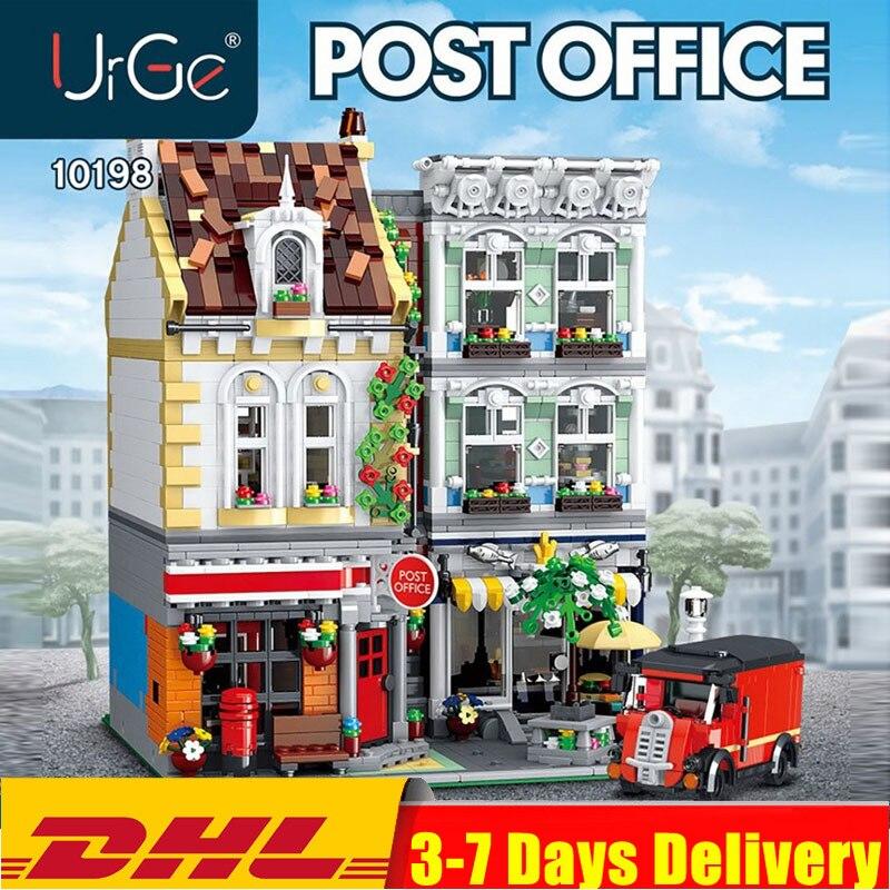 В наличии 10198 3716 шт. набор «городская улица» серии кирпич квадратных почтовое отделение, Мпц 22101, строительные блоки, игрушки для детей своим...
