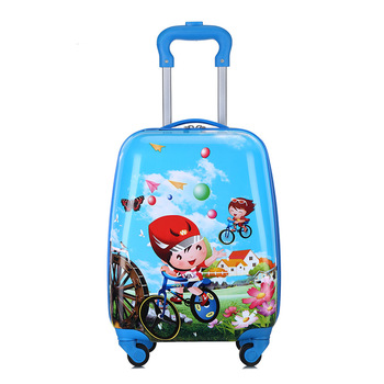 high quality Cute Cartoon Children Rolling Luggage Suitcase for girls Wheels Students 18 inch Carry on Trolley Kids Travel Bag 17 inch high quality baymax cartoon kids travel boy students big hero 6 tourism luggage child suitcase boy anime trolley case