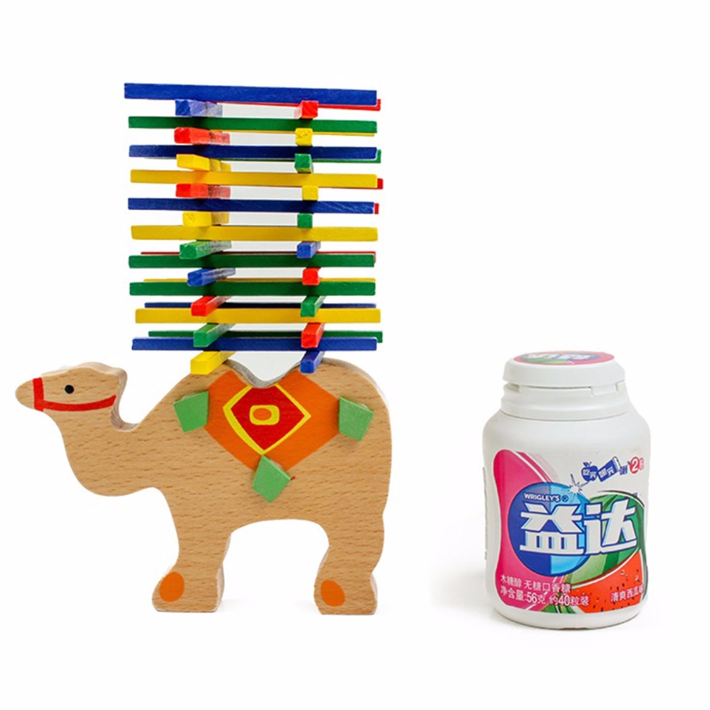 Cute Cartoon Animal Educational Elephant Camel Balancing Wooden Math Toys Beech Game Wood Balance Montessori Toys For Baby