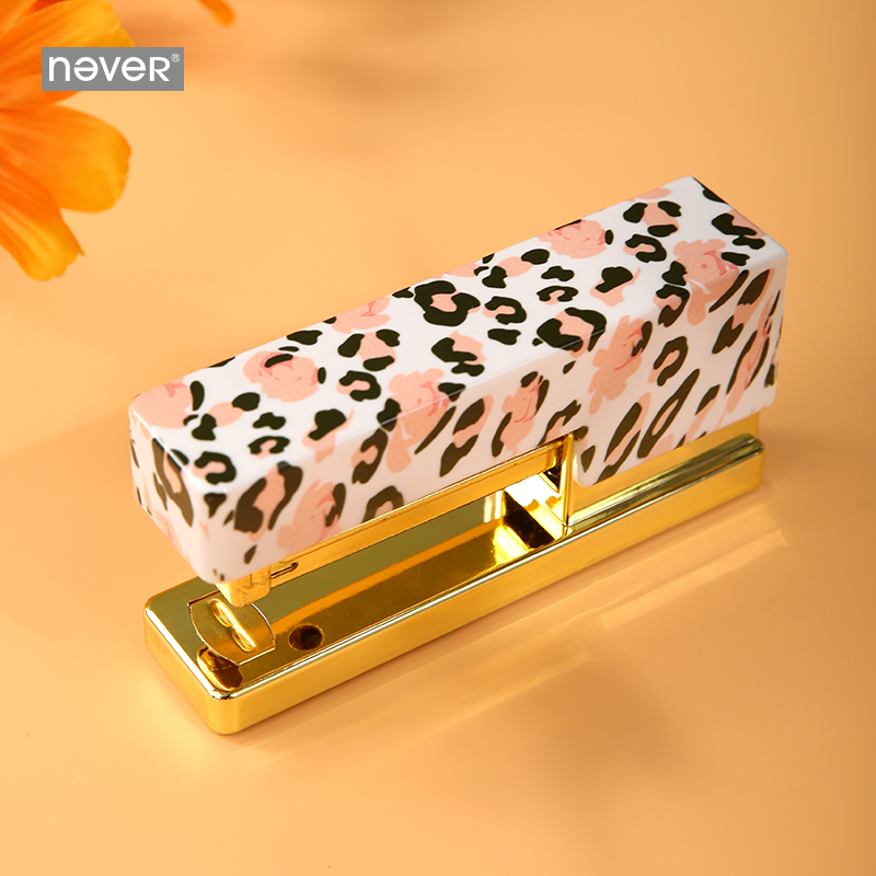 Never Leopard Grain Series Staples Student Standard Stapler Business Gift Stationery School & Office Supplies Back To School