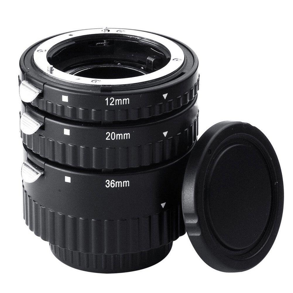 Tube d'extension d'objectif pour reflex numérique micro-droite Macro anneau accessoires d'adaptateur réglable de mise au point automatique appareils photo rapprochés pour Nikon D7100 D800