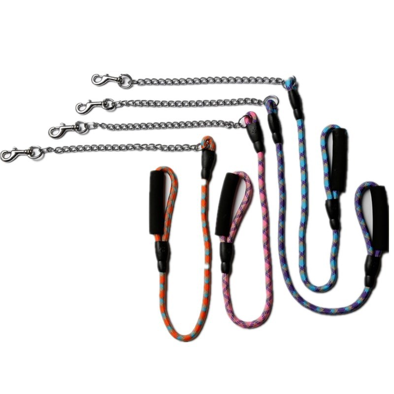 Bay Jiarui Customizable-Pp Rope + Chrome P Pendant Hot Selling Pet Supplies Dog Hand Holding Rope