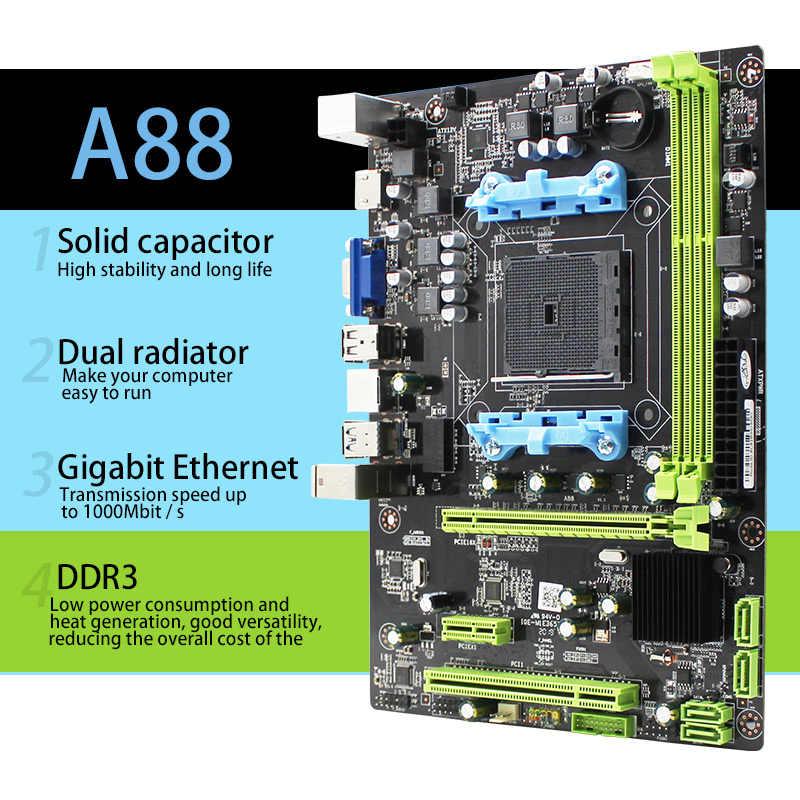 AMD A88 gniazdo FM2/FM2 + płyta główna pulpitu DDR3 16GB M-ATX wsparcie A10 A8 A6 A4 Athlon2 x4 880K zintegrowana karta graficzna płyty głównej płyta główna
