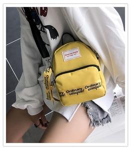 Image 1 - Ougger Woman Shoulder Bag Concise Fashion Simple Canvas Ins Ladies Mini Leisure Crossbody Bags Women Messenger Bag with Zipper