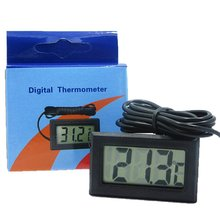 LCD Digital Thermometer With Battery Freezer Mini Thermometer Indoor Outdoor Electronic