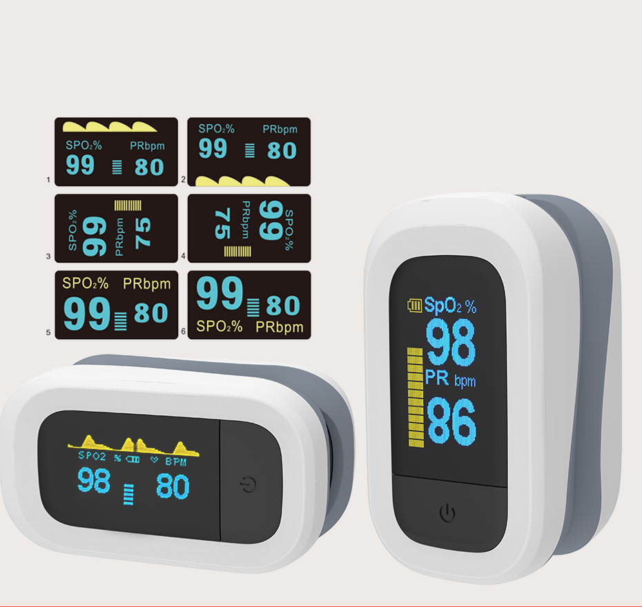 YONGROW Medical Fingertip Pulse with Sound and Light Alarm and OLED Display 20