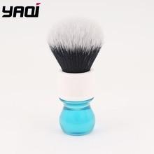 Yaqi 24mm Aqua Tuxedo Synthetic Hair Shaving Brush 26mm yaqi mysterious space color handle tuxedo knot men shaving brush