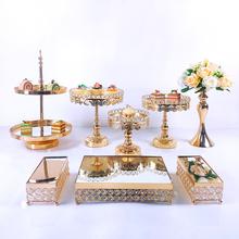 8 sztuk kryształ metalowa patera na tort zestaw lustro akrylowe dekoracje ciastko deser cokole wesele taca wystawiennicza tanie tanio MQMY CN (pochodzenie) Tak ( 50 sztuk) Ślub i Zaręczyny przyjęcie urodzinowe Przeprowadzka Na Dzień Dziecka Na imprezę