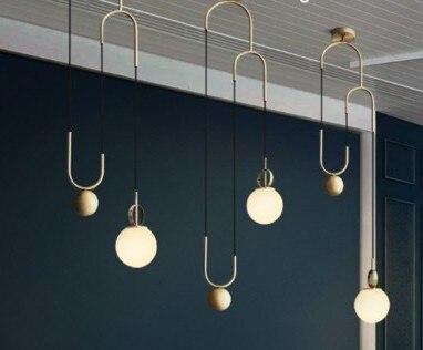 Nordic Pendant Lights Globe Glass Ball Pendant Lamp Lustre Suspension Kitchen Light Fixture E27 Home Lighting Ing Luminaire